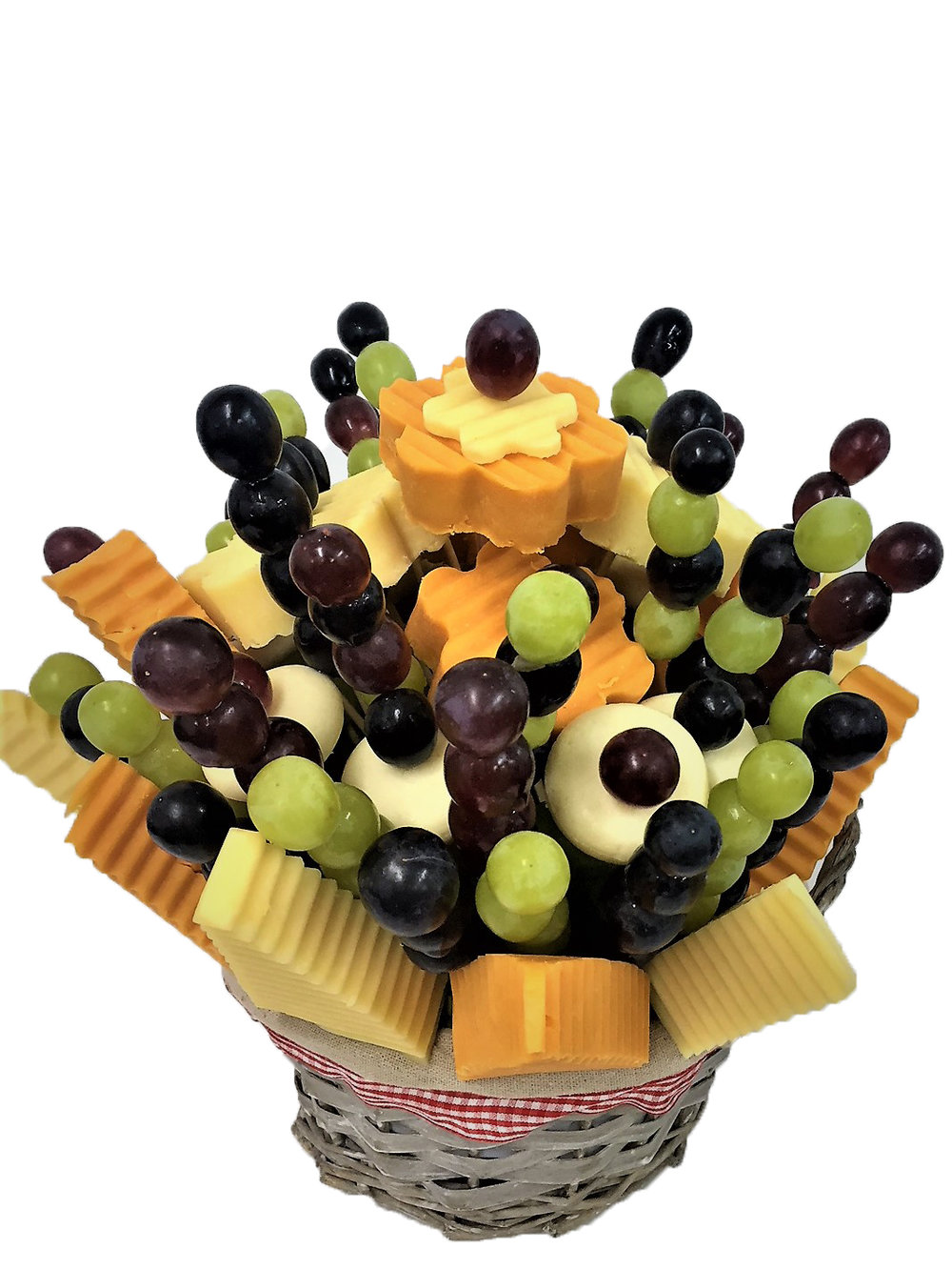 Cheese & Grape Medley By Fruity Bouquets.jpg
