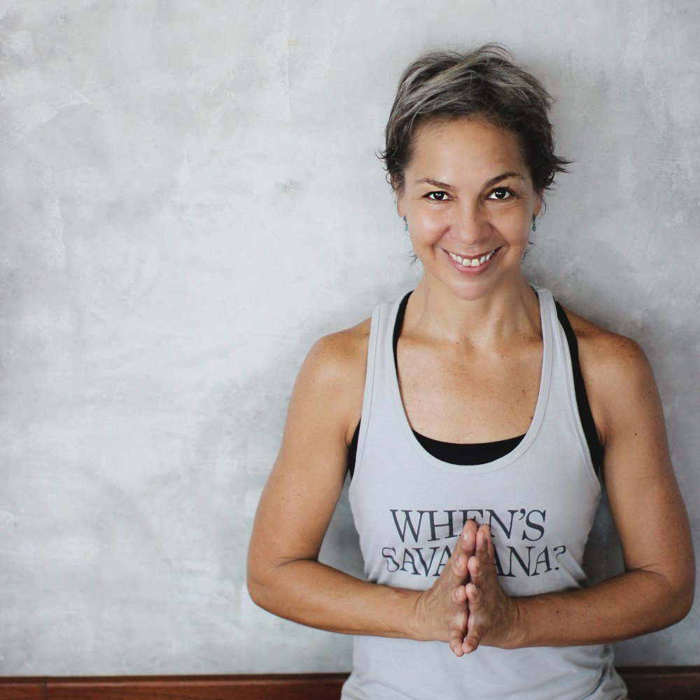 Eugenia   Eugenia is a native of Venezuela and has been teaching yoga in Mexico since 2006. Since 2009, she shifted her yoga focus from Hatha to the Iyengar method. She came to Tulum in 2014 and completed her grade II certification in the Iyengar tradition of yoga the following year. Her discipline combined with her humor and a love for yoga motivate her students toward a perfectly aligned asana practice. She teaches Iyengar yoga at Tribal and often incorporates the wall cords into the postures. Eugenia has done several Karunta Yoga workshops to show people how the ropes/wall cords can help align asanas and move people deeper into their pracitce. Her Iyengar practices are a perfect compliment to our Vinyasa Flow and even Yin classes since her use of props helps create a muscle memory that carries through to life on and off the mat.