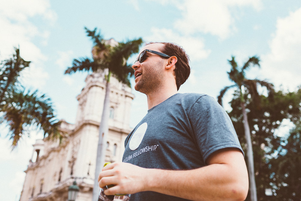 Chris (Cuba Fellow Winter '17)enjoying Havana