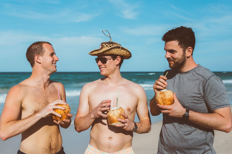 Cuba Beach Guys Coconuts