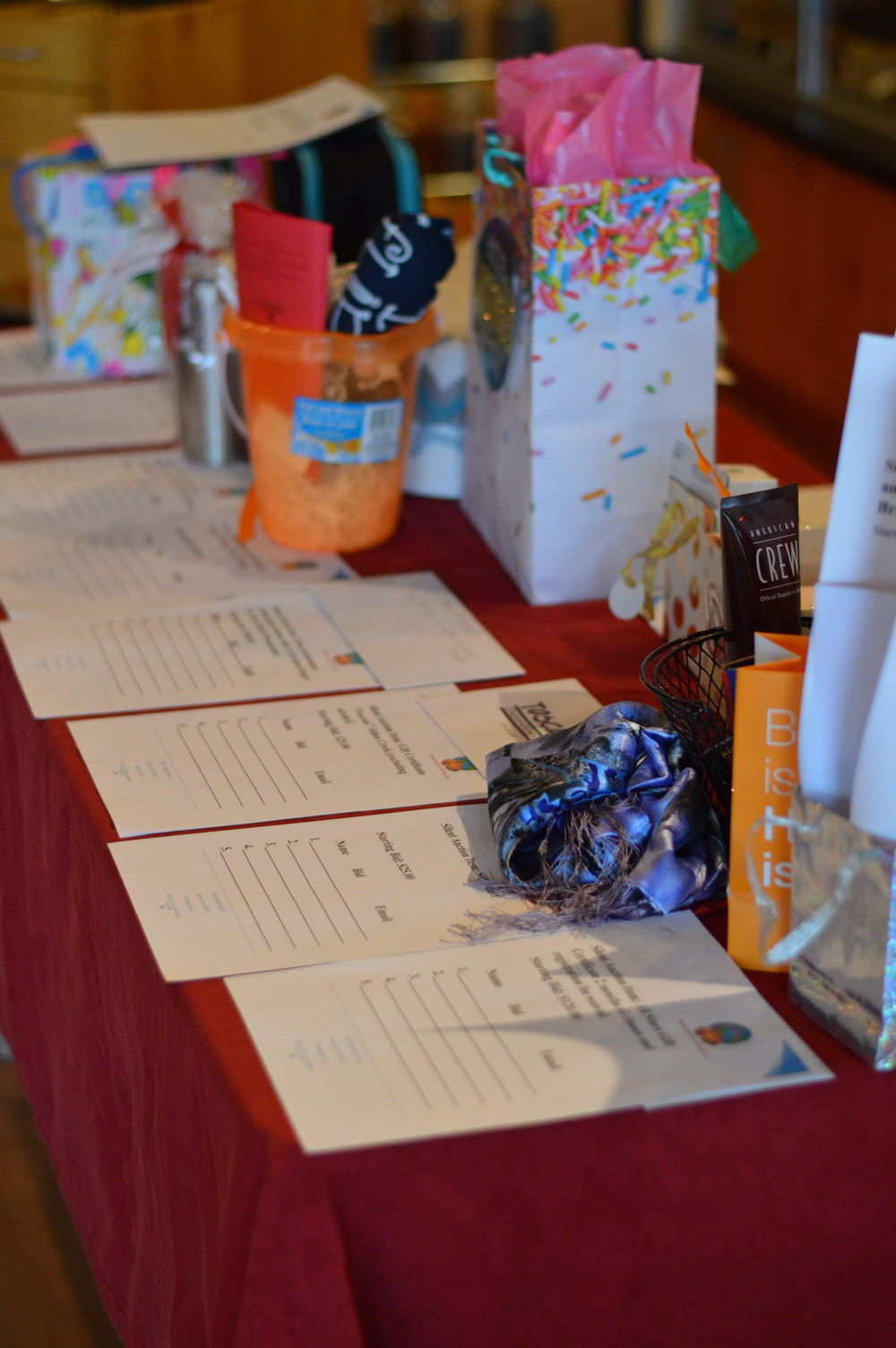 We had PLENTY of great silent auction items to bid on!