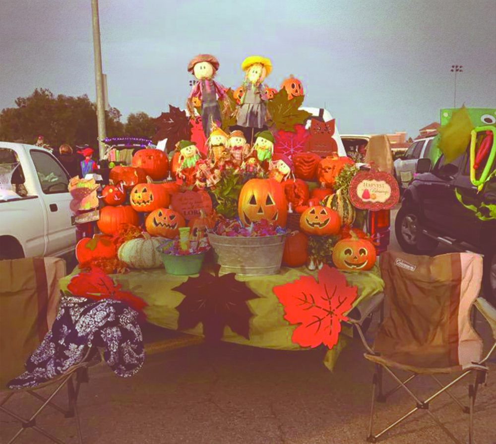An example of how one Rancho family chose to decorate their car for trunk-or-treat!
