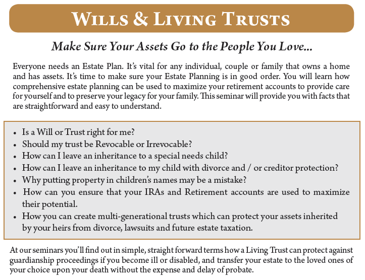 Wills living trusts special educational event thomas walters wills living trust mailerg solutioingenieria Images