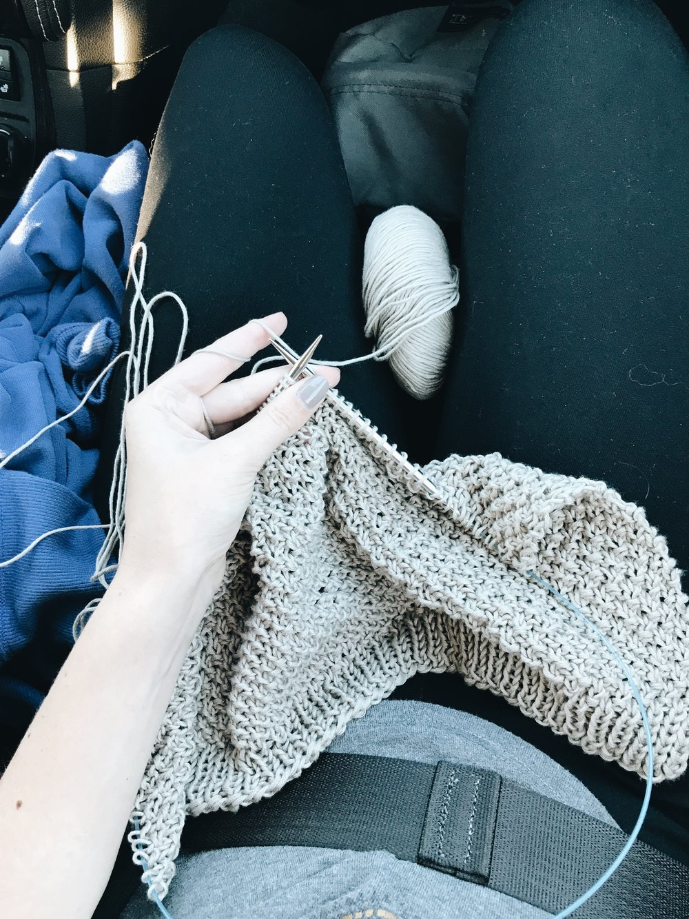 Yarn : We Are Knitters'  Pima Cotton  in Pearl Grey  Pattern : WAK  Yellowstone Cardigan