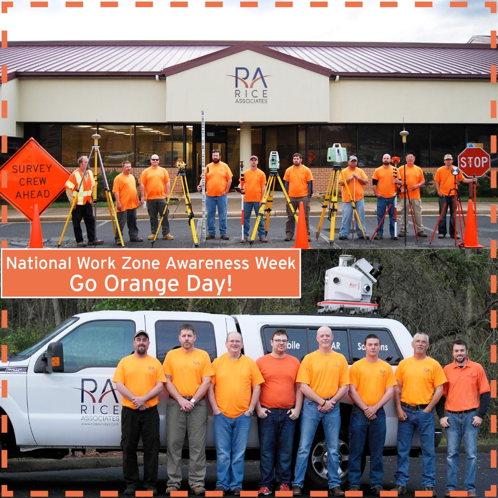 Its National Work Zone Awareness Week and Rice Associates would like to remind everyone on the road to be careful of work crew members. To encourage safe driving through highway work zones, Rice Associates is participating in American Traffic Safety Services Association (ATSSA) Go Orange Day! - April 5, 2017