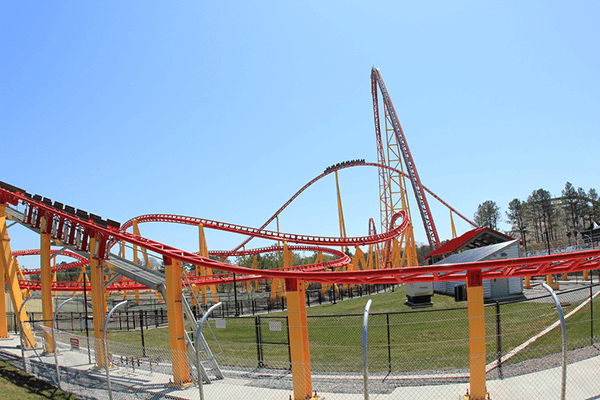Laser Scanned High Definition Survey - Kings Dominion Amusement Park, Intimidator 305 Roller Coaster