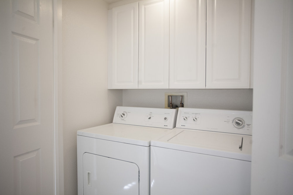 Washer and Dryer in apartment home
