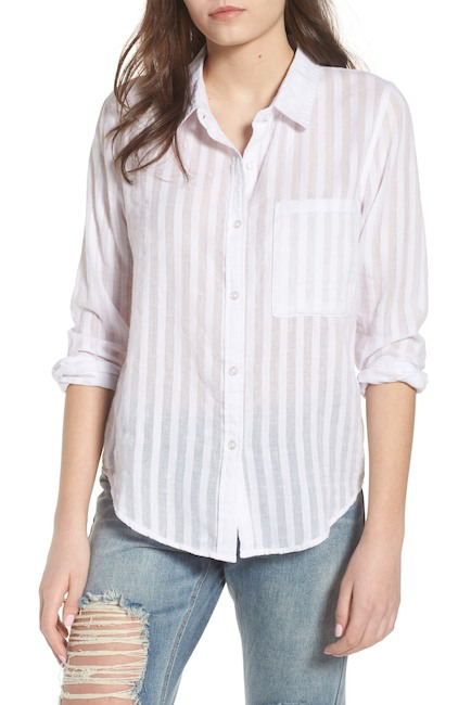Nordstrom Rack - My signature cover-up move is the cheapest white cotton button up I can find, in L or XL.I wear it in the water when I don't want to much sun and it goes with EVERYTHING.