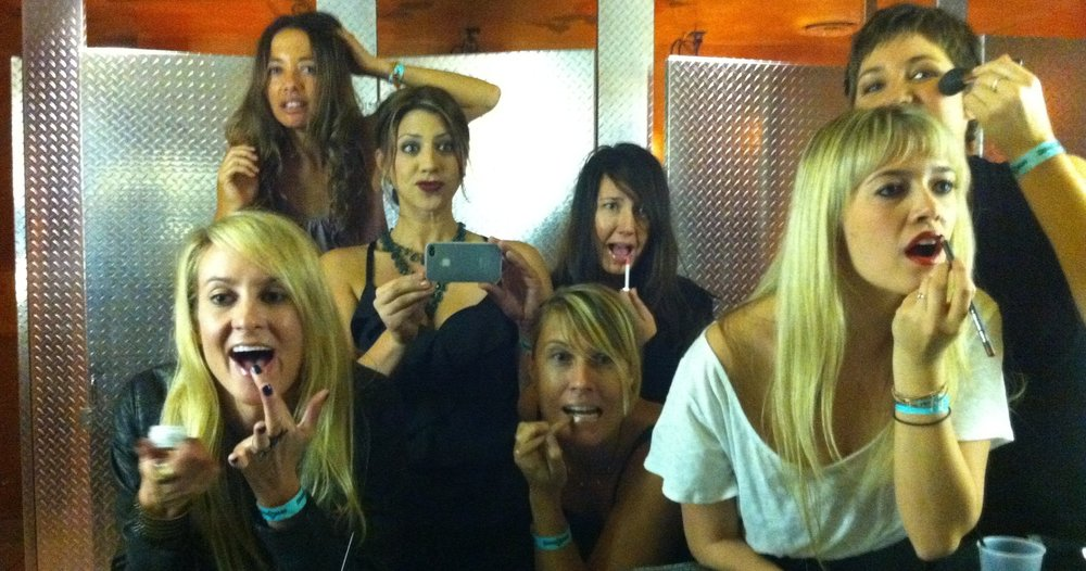 """Some of the Billabong Women's Marketing """"Dream Team"""". Amy Sorenson, Gina Turpel, Stacy Rosario, Megan Villa, Alli Perez, and Kimmy Shinner. (Candy Harris, Sophie St.Onge, and Tara Ventimiglia you were there in spirit)"""