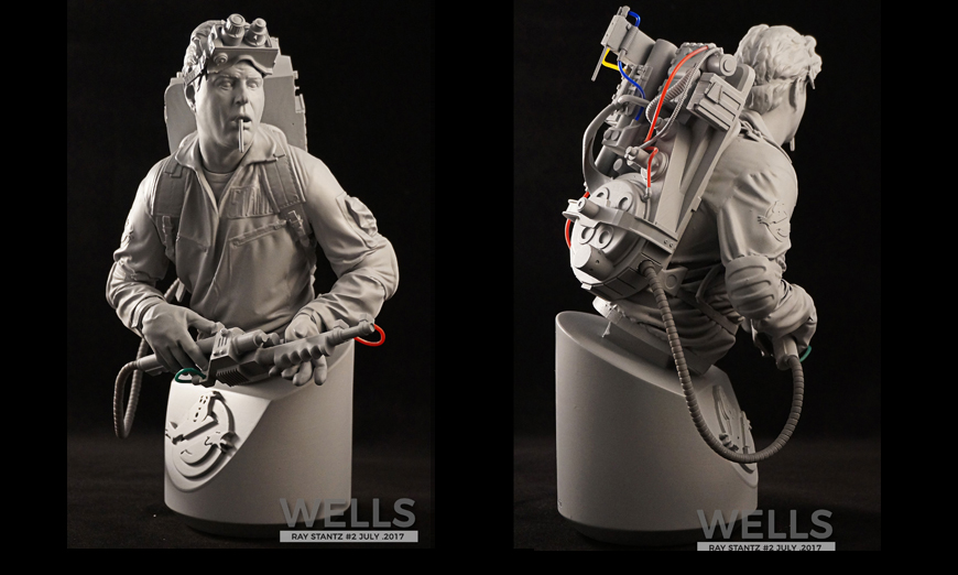 Dan Aykroyd as Ray Stantz/Ghostbusters portrait bust. Resin and TPU filament