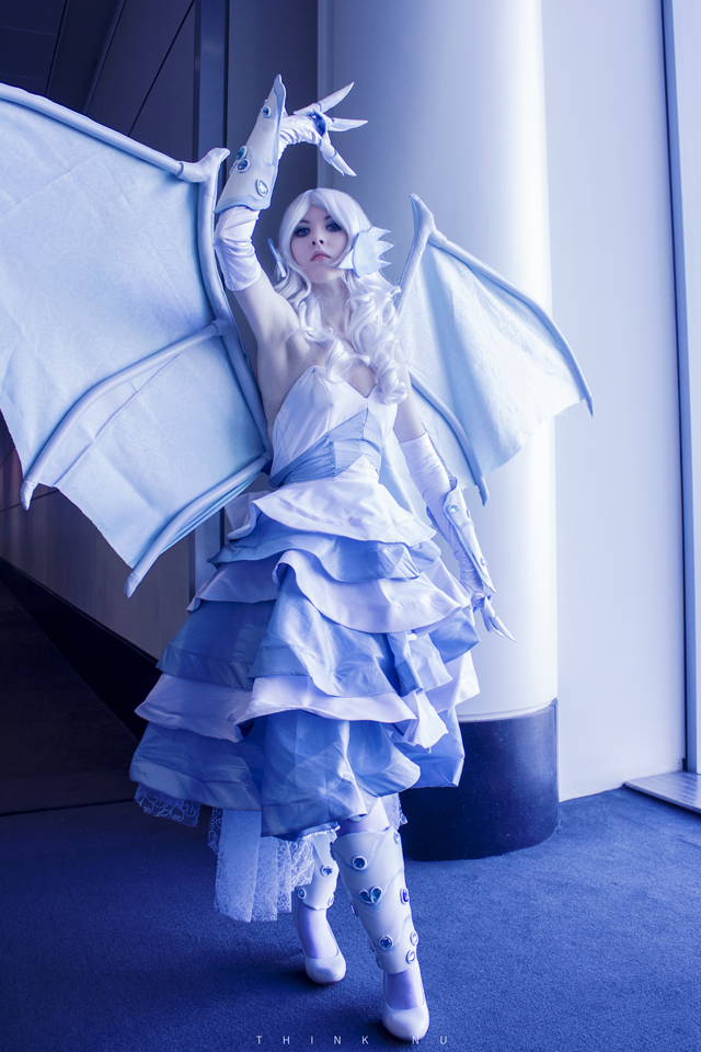 Blue Eyes White Dragon , from Yu-Gi-Oh! Duel Monsters. Photo by  Think.Nu