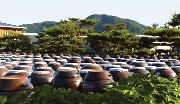 장독대 - 간장, 된장, 고추장, 젓갈 등 음식의 기본 재료가 담긴 질그릇을 보관하는 곳이다.