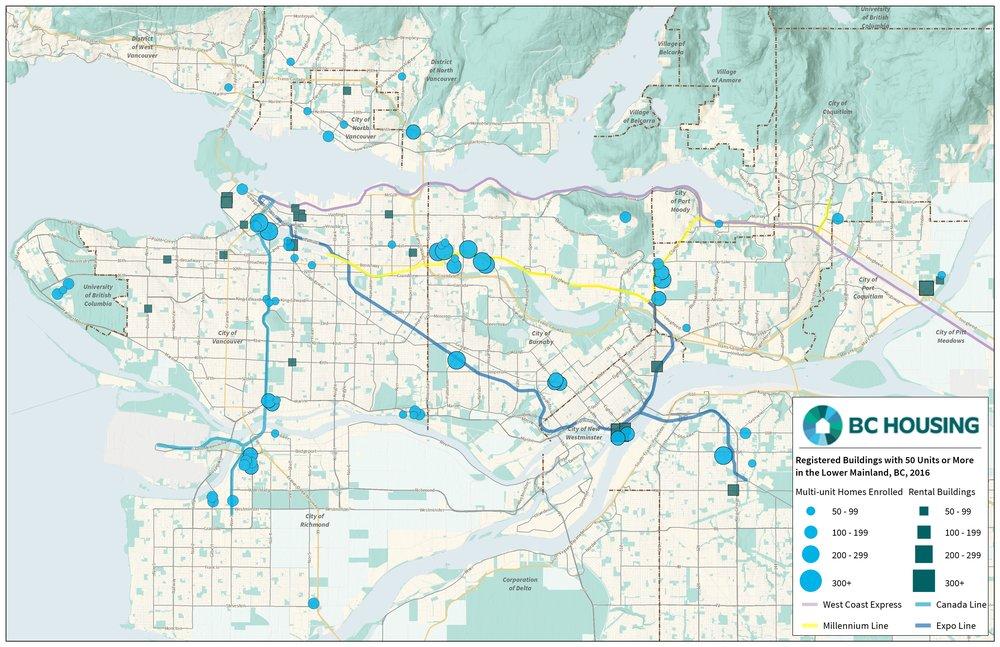 BC Housing Development Overview Map