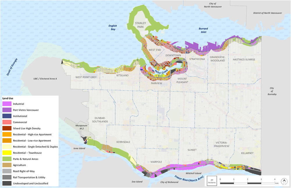 Land use along Vancouver's waterfront