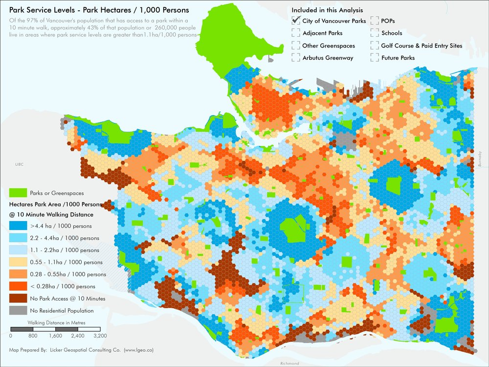 Parks Access and Parks Space Per Capita