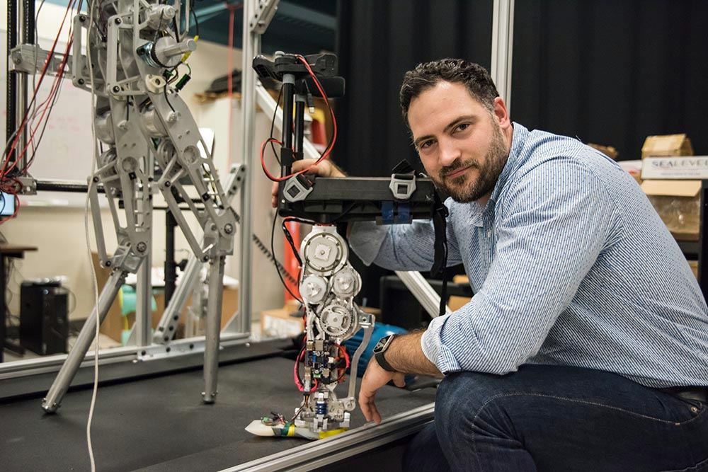 Aaron Ames's new lab at Caltech focuses on building, testing, and—most importantly— understanding walking robots.