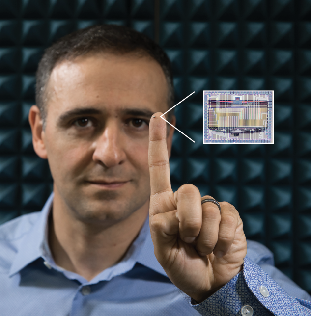 "Getting rid of bulky lenses or mirrors ""opens a new world of imagers that could look like wallpaper, blinds, or even wearable fabric,"" says Ali Hajimiri, Bren Professor of Electrical Engineering and Medical Engineering, shown here with the device he and his colleagues created.  Photo courtesy of          96              Normal   0           false   false   false     EN-US   X-NONE   X-NONE                                                                                                                                                                                                                                                                                                                                                                                                                                                                                                                                                                                                                                                                                                                                                                                                                                                                                     /* Style Definitions */ table.MsoNormalTable 	{mso-style-name:""Table Normal""; 	mso-tstyle-rowband-size:0; 	mso-tstyle-colband-size:0; 	mso-style-noshow:yes; 	mso-style-priority:99; 	mso-style-parent:""""; 	mso-padding-alt:0in 5.4pt 0in 5.4pt; 	mso-para-margin:0in; 	mso-para-margin-bottom:.0001pt; 	mso-pagination:widow-orphan; 	font-size:12.0pt; 	font-family:""Calibri"",sans-serif; 	mso-ascii-font-family:Calibri; 	mso-ascii-theme-font:minor-latin; 	mso-hansi-font-family:Calibri; 	mso-hansi-theme-font:minor-latin;}     Ali Hajimiri"