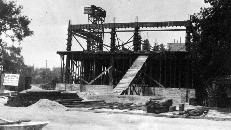 Gates Laboratory of Chemistry under construction, 1916.