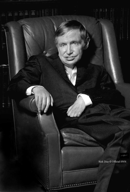 Stephen Hawking in 2013.  Photo: Rick Diaz © Official SWH