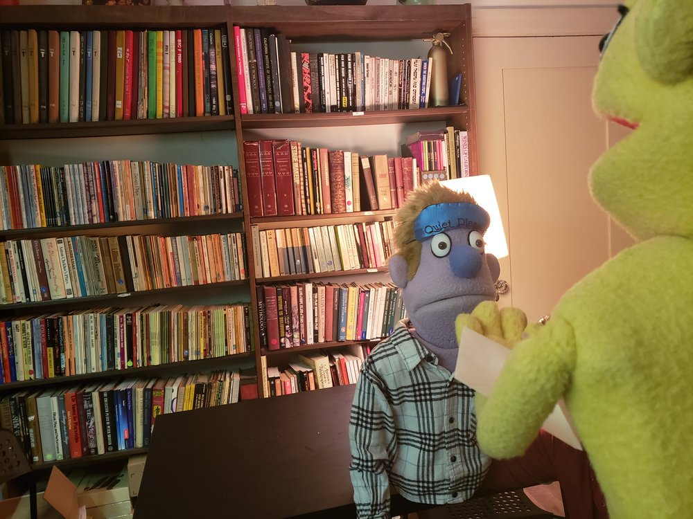 Avenue Q 's Princeton and Rod in conversation.