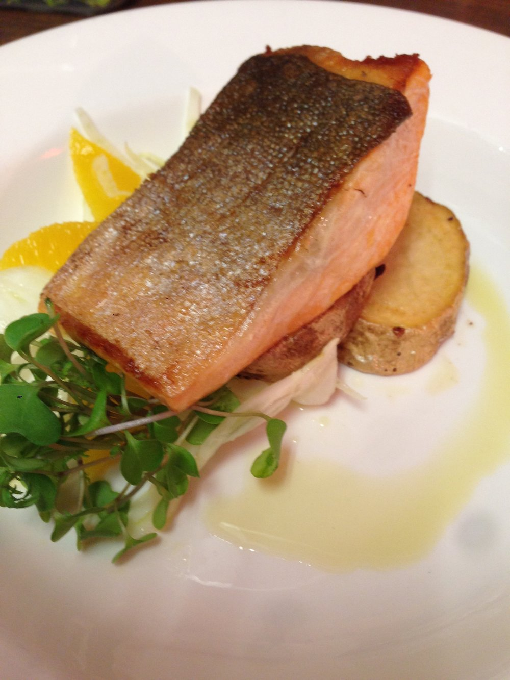 Arctic Char - with Fennel citrus salad, confit potatoes.