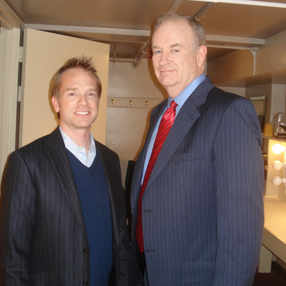 Scott Fox backstage with former client Bill O'Reilly