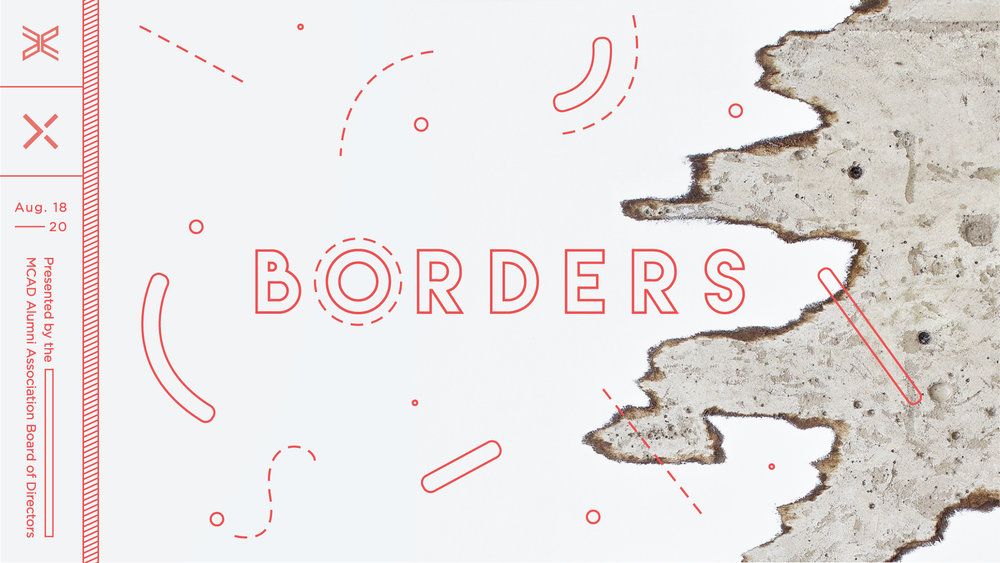 "August 18–August 20 Opening Reception: Friday, August 18, 7:00 p.m.–1:00 a.m.  Public Functionary  1400 12th Ave NE, Mpls MN 55413    MCAD Alumni Board presents:   Borders: A 2017 juried exhibition of work by MCAD alumni   A border may be metaphorical, symbolic and definitional. A border may also be literal, material and tangible. Intimately, borders are a constant in the practice and process of an artist. Globally, borders impact us as citizens, visitors, travelers and transient humans. Current events lend a moment in which the contemplation of ""borders"" both symbolic and literal can bring various perspectives and ideas together on common ground. The MCAD alumni board invited the far-reaching community of MCAD alumni to submit work in response to this broad but poignant theme. The final selections will be presented together at the opening reception on August 18 at Public Functionary.  Hend Al-Mansour, MFA '02 Sarah Evenson '16 Tom Gormally '77 Gale Jorgenson '89 Colin Kopp '06 Greta Kotz '16 Nick Kovatch, MFA '13 Josh Meillier '13 Shelly Mosman '95 Shiraz Mukarram, MFA '17 Emmett Ramstad, MFA '07 Sandy Resig '60 Lindsay Splichal '12 Sara Suppan '15 Nicole Thomas '15 Megan Vossler, MFA '02 Mary Welke '76"