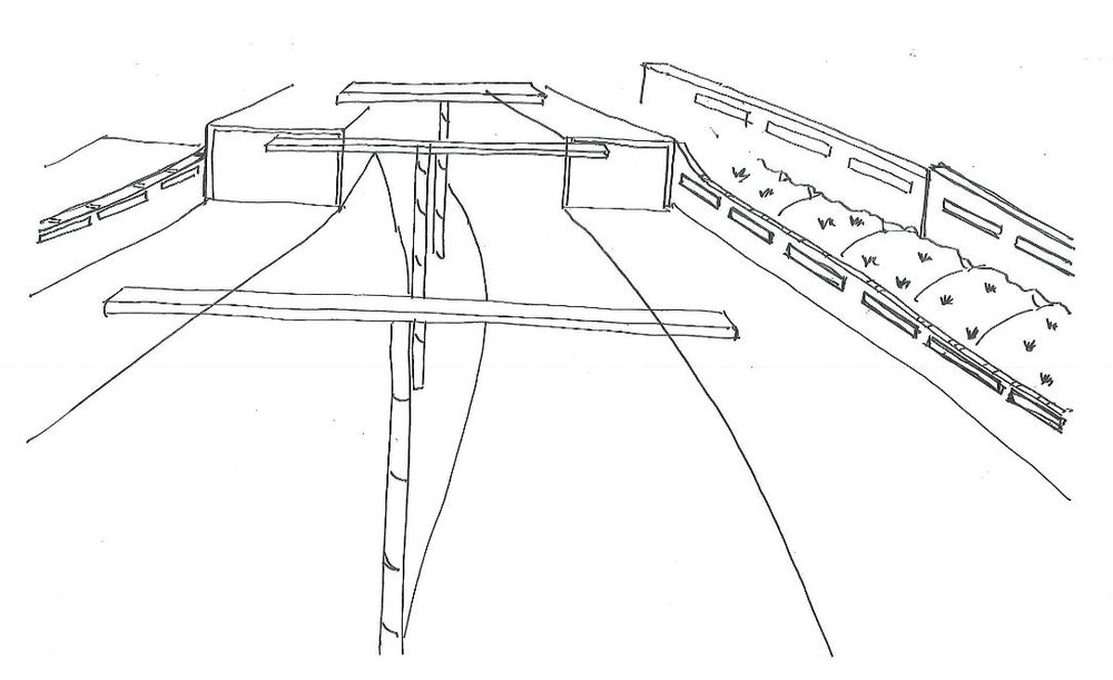 Study Sketch of Roadway Grade Separation