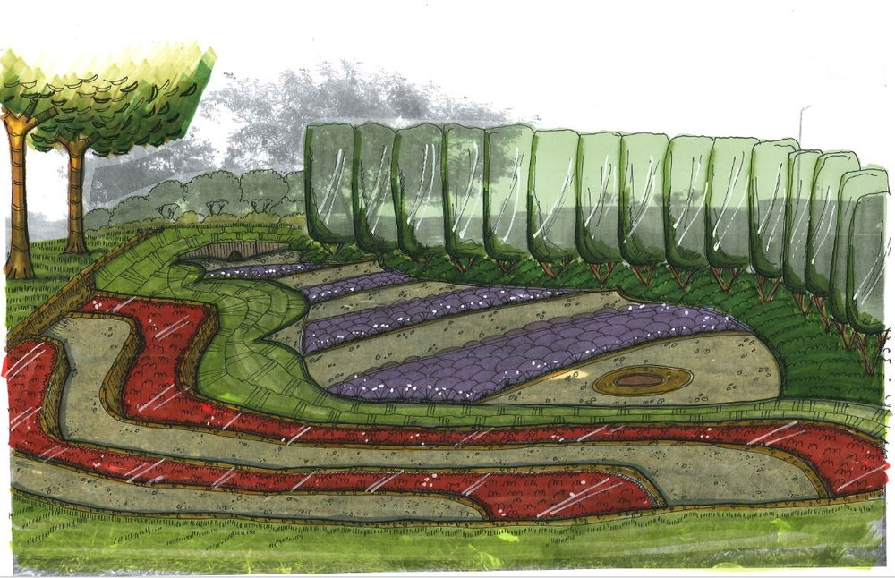 Stormwater Drainage Incorporated With Landscape Sculpture