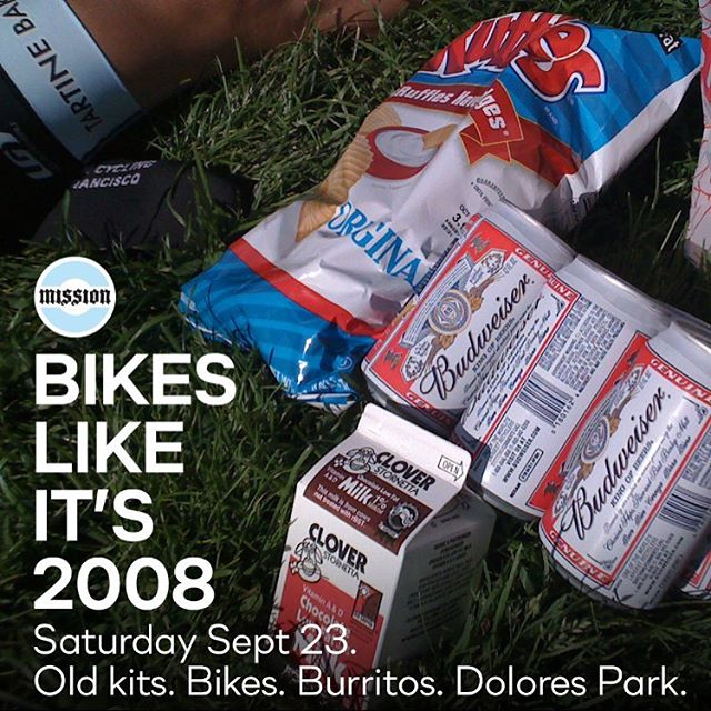 Join us Saturday, September 23rd for an old school ride. Start ride at 9a from @craftsmanwolves (Valencia). We'll end the ride a few hours later in Dolores Park with beers, burritos, and a decent time.