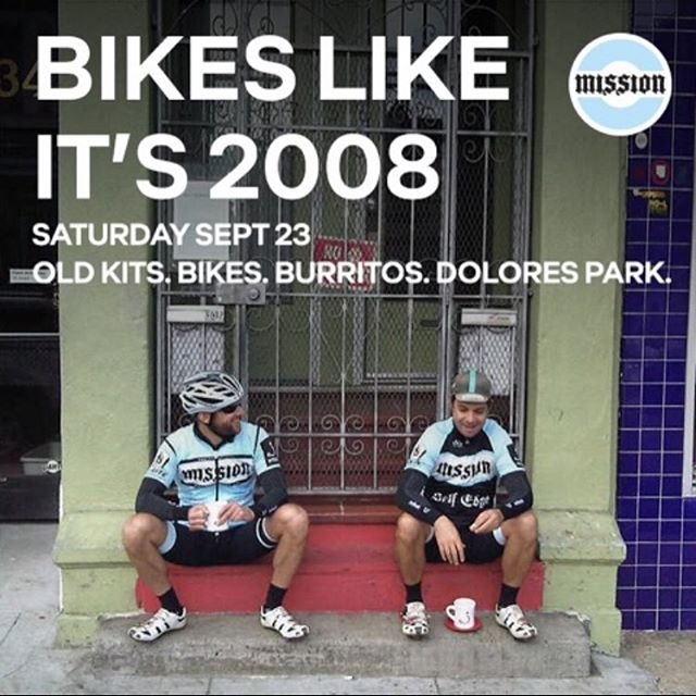Join us this Saturday for an old school Mission Cycling ride. We'll start at 9am from @craftsmanwolves (Valencia), arrive at GG Bride at 930am & eventually end in Dolores Park for burritos, beer, & laughs.