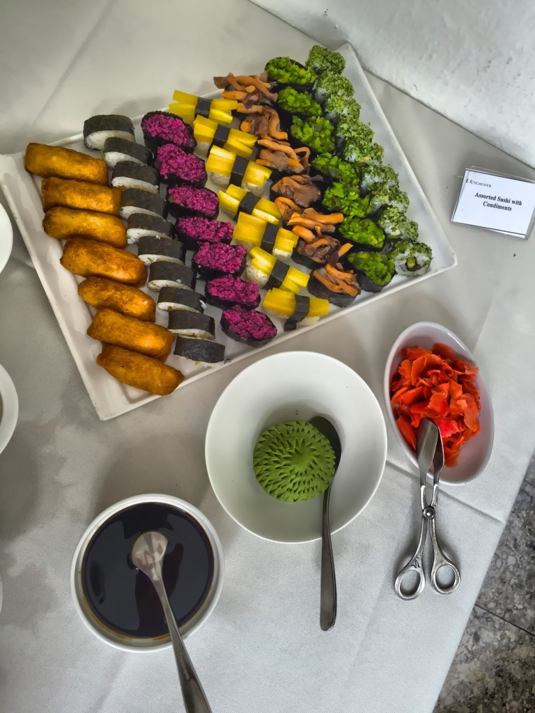 Vegan sushi from Andy and Chui Ling's wedding