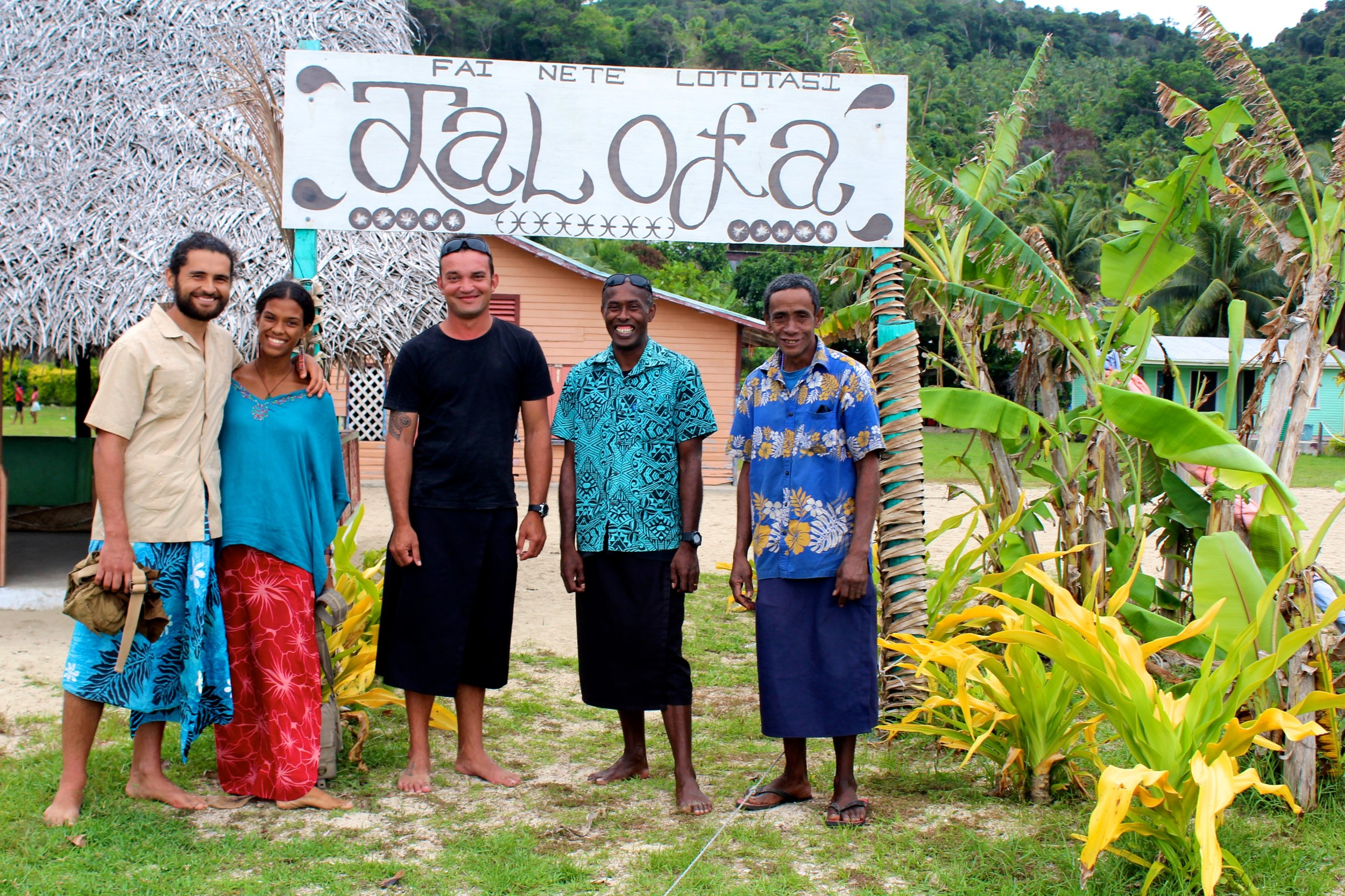 Some of our Paradise team in Kioa