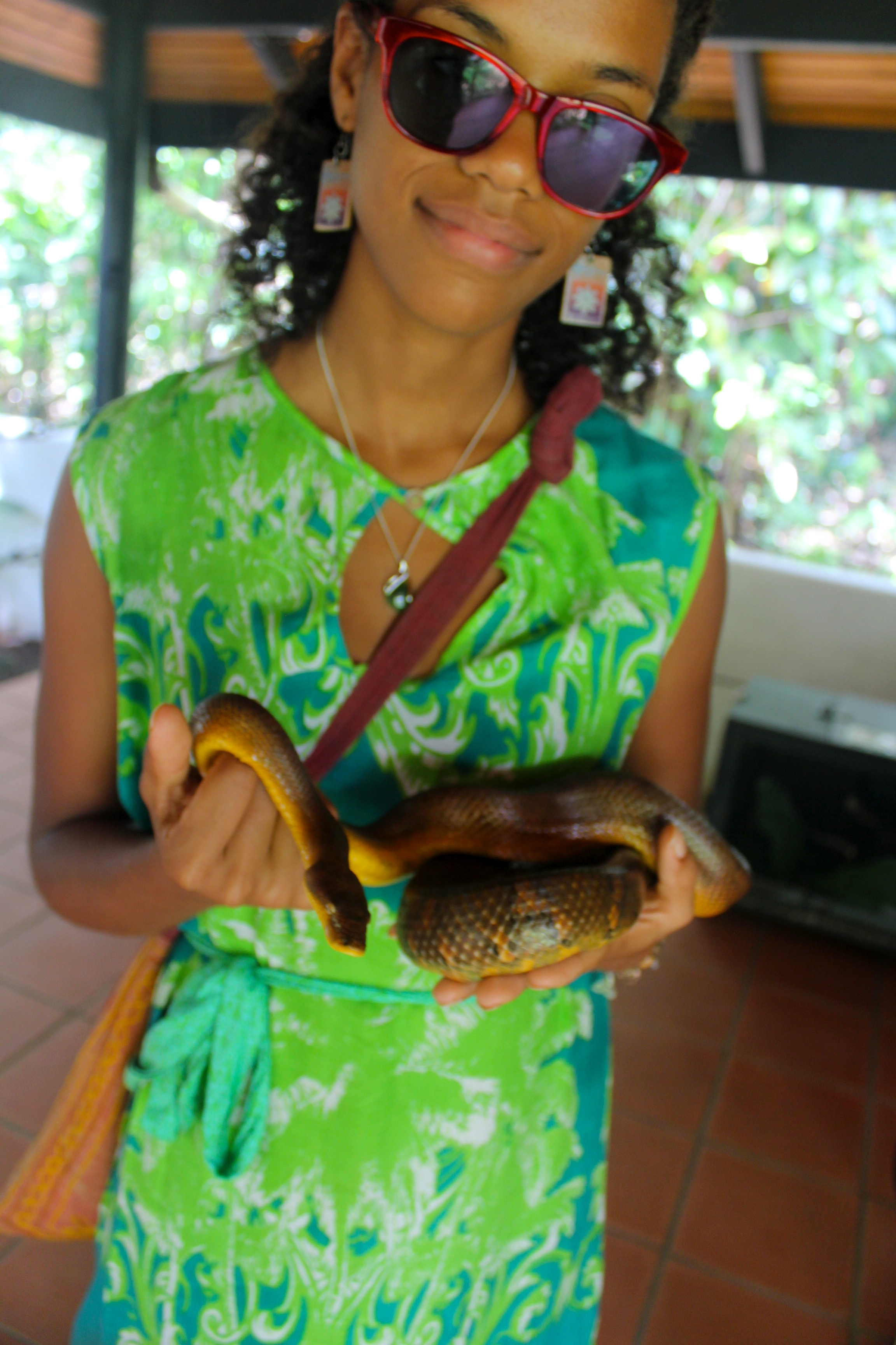 Alise with the Pacific Boa
