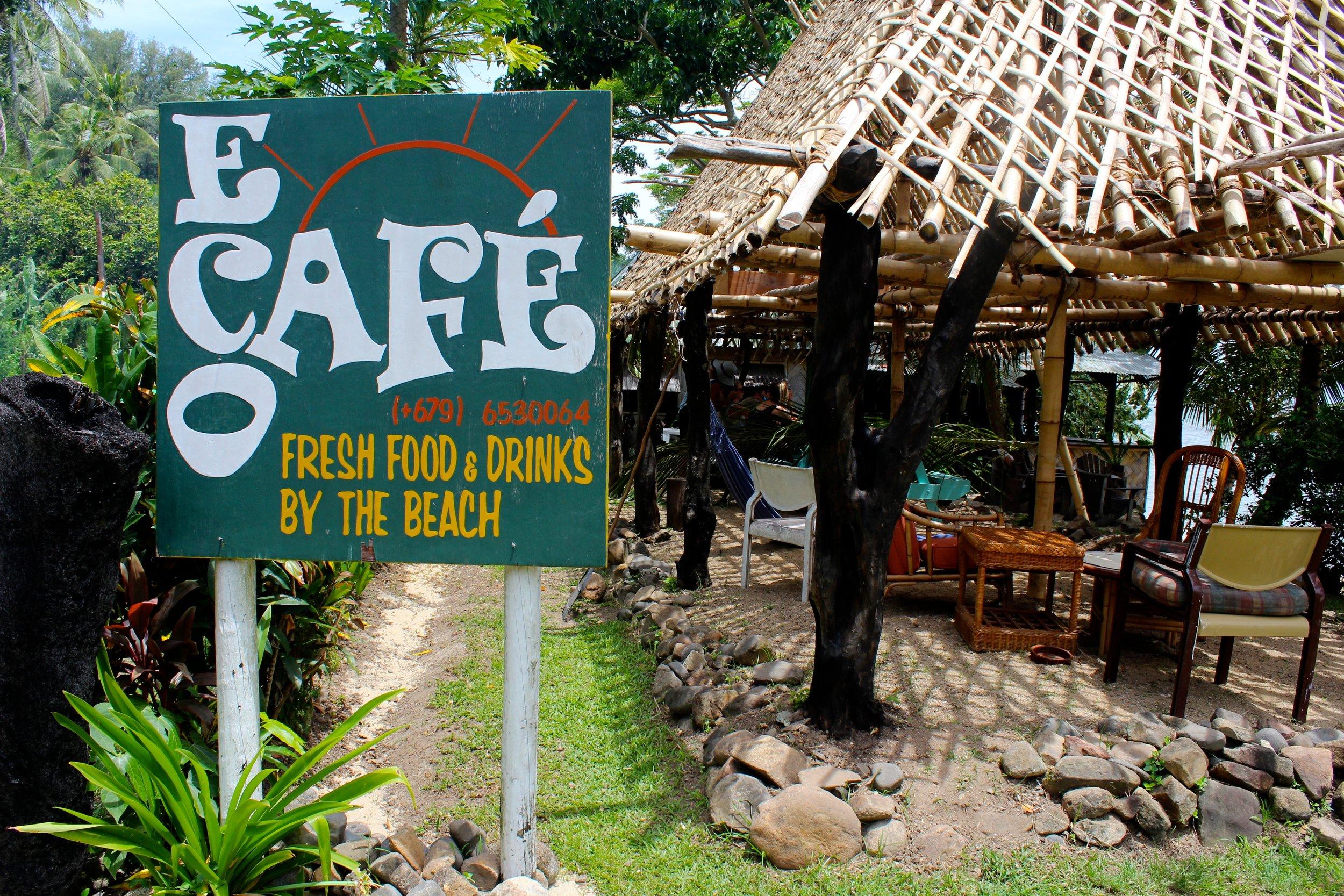 EcoCafe sign