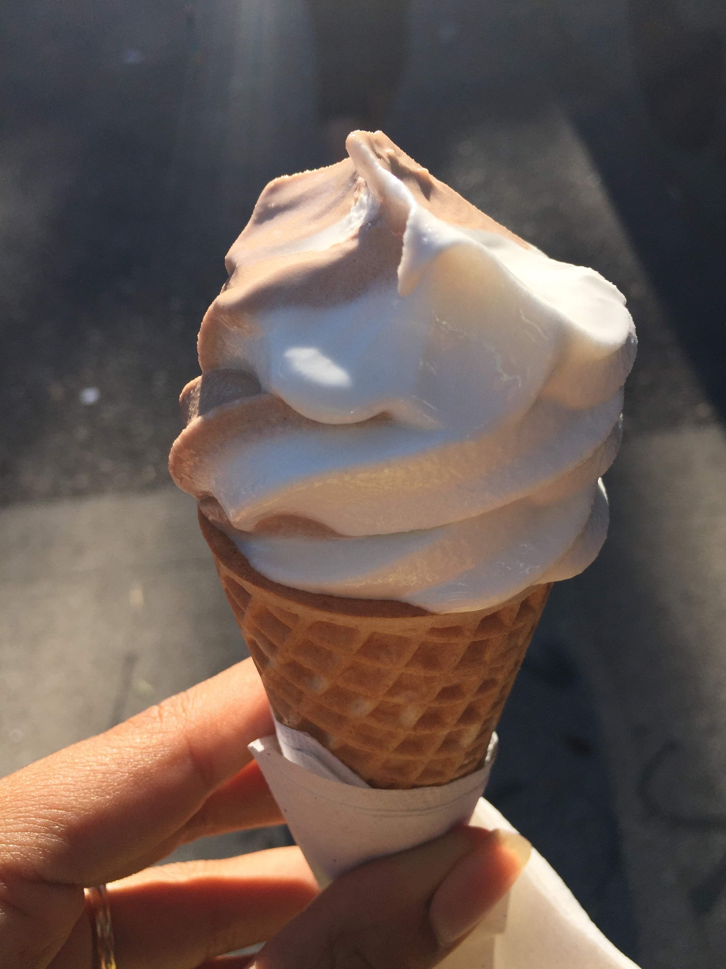 Vegan soft serve ice cream from Food Fight Grocery in the world's first vegan mini mall