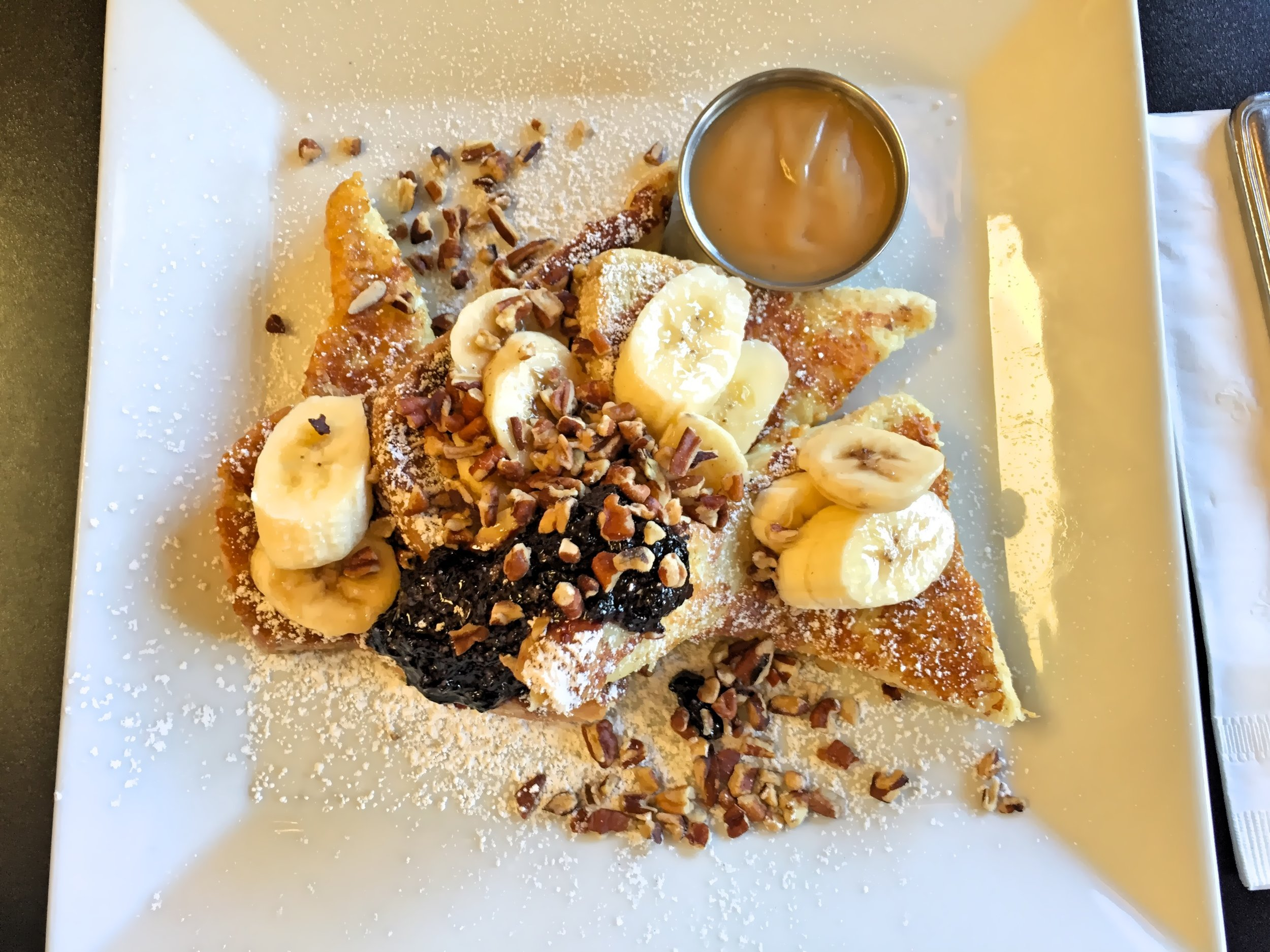 Banana Peacan French toast