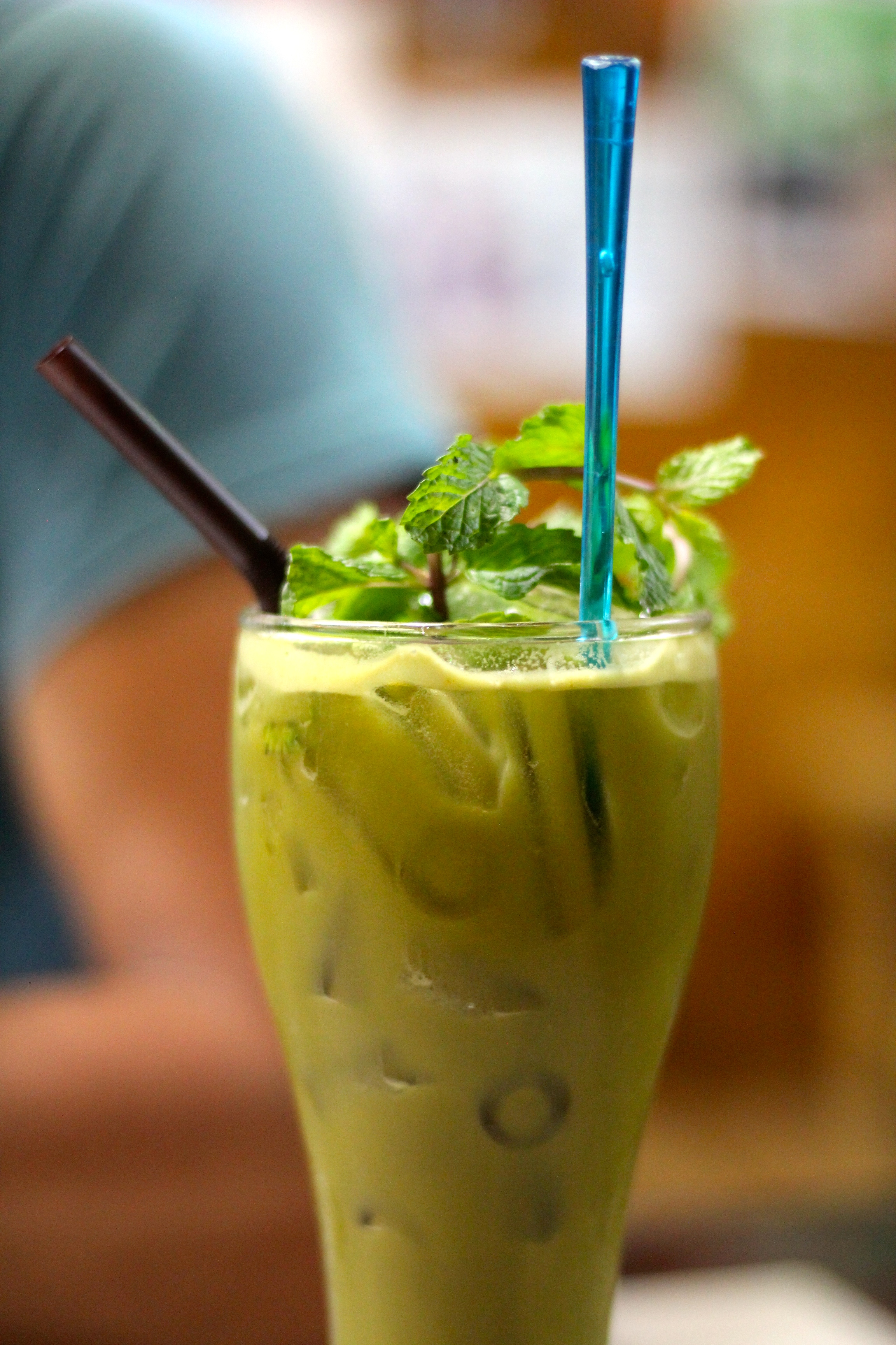 Ginger mint drink from the Bamboo Bee