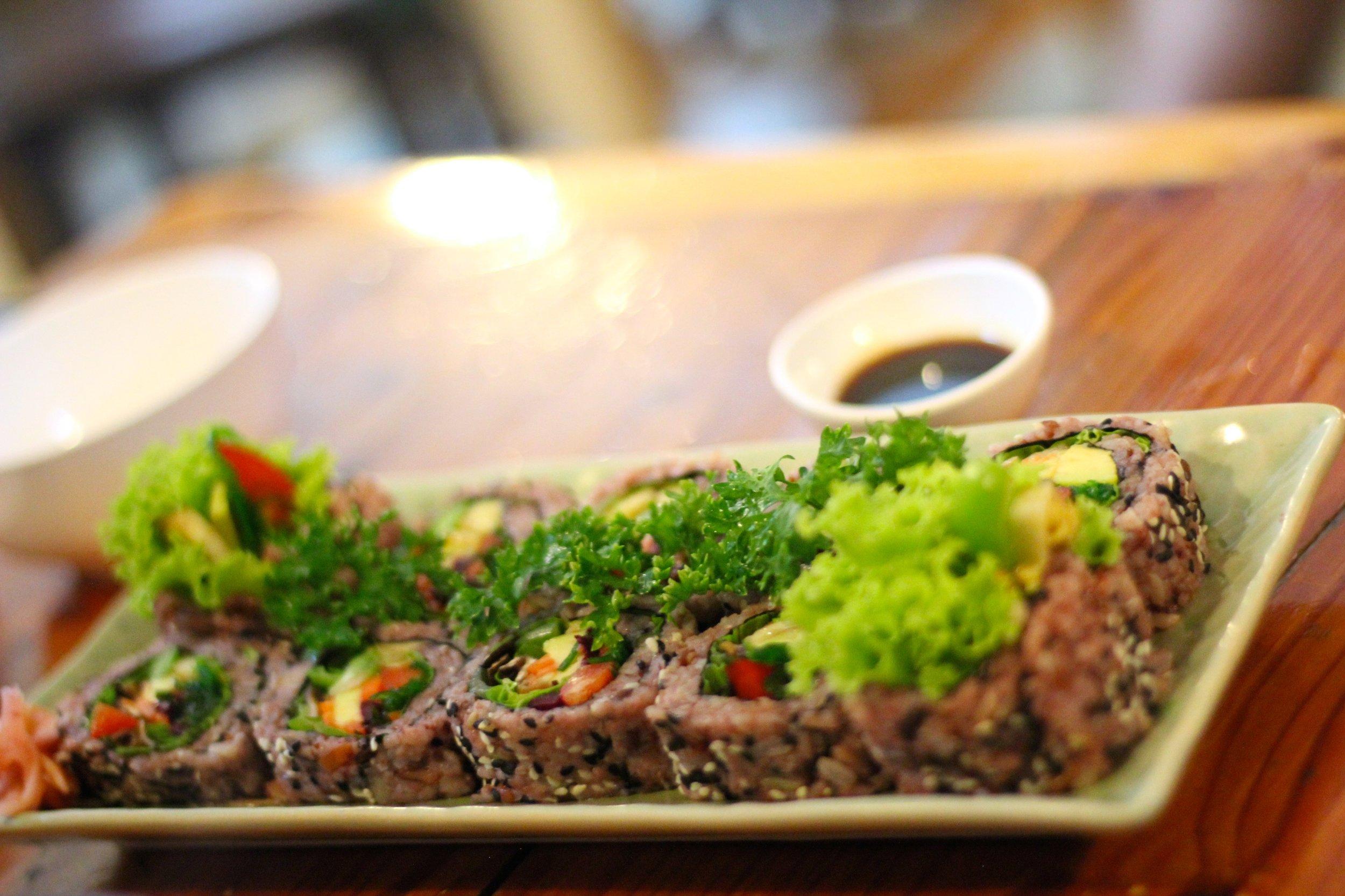 Sushi from Aum Vegetarian