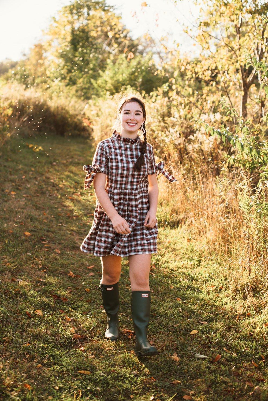 Elizabeth Wilson Designs Plaid Dress