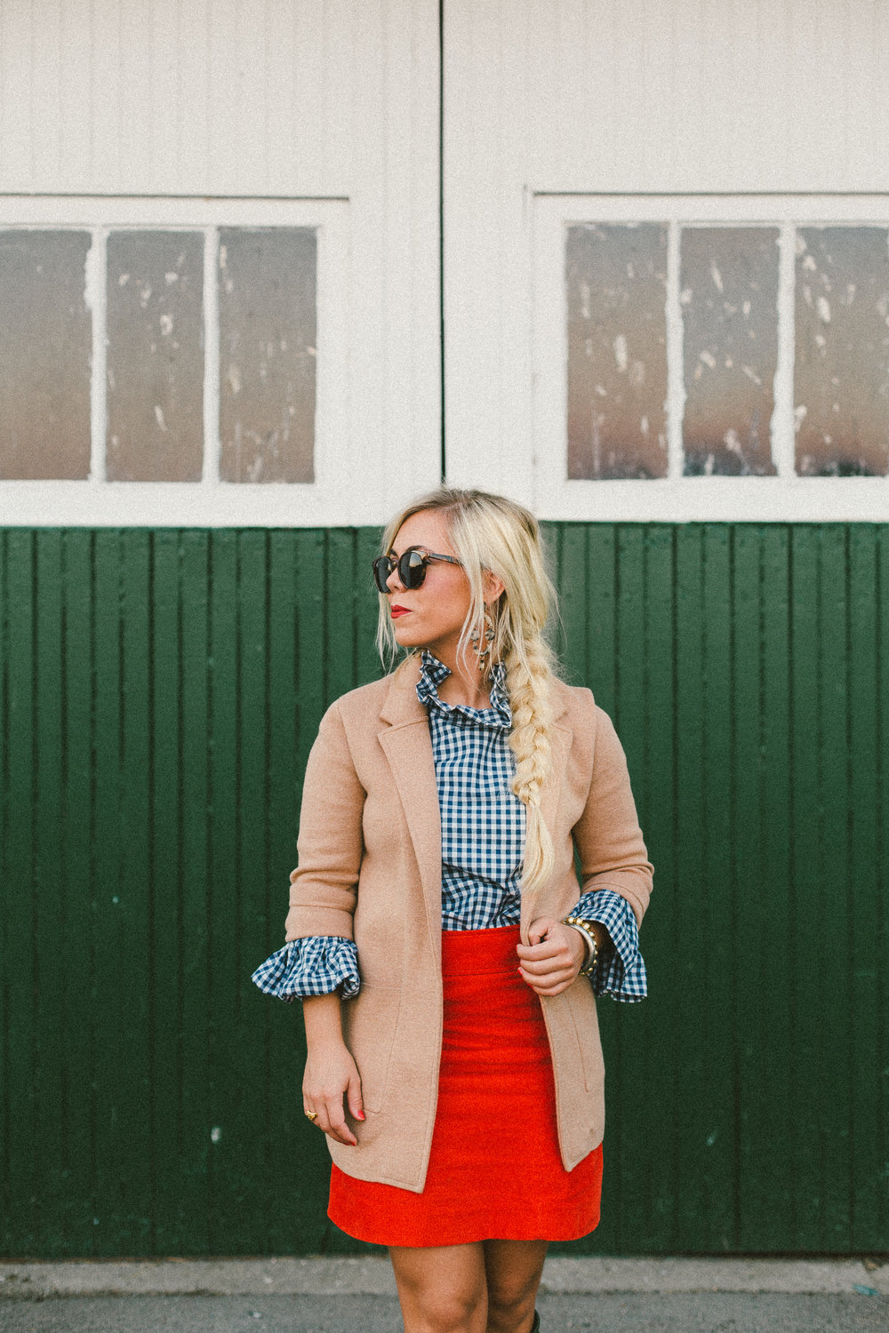 gingham ruffles - A fall favorite: the Katherine top in gingham