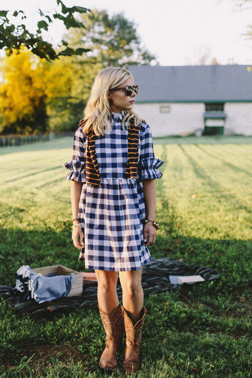 The perfect fall dress - The Nancy Jane Dress in Gingham