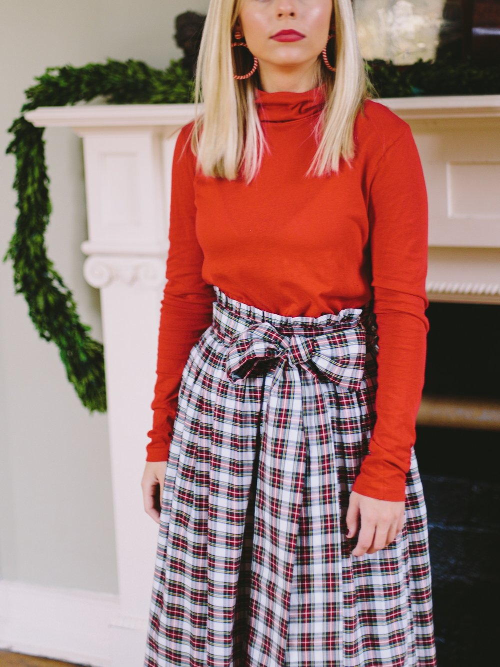 MAD FOR PLAID - THE MADELINE MAXI SKIRT IS THE PERFECT HOLIDAY PARTY PIECE.