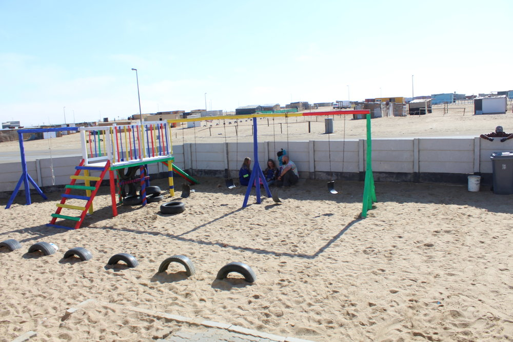 Swakopmund, Namibia -Our 2016 team helped build this playground and our 2017 team help to paint it.