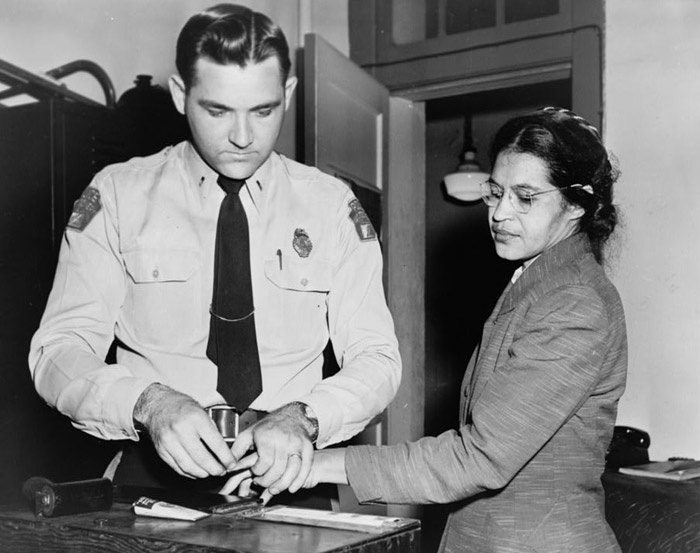 Rosa Parks, the troublemaker.