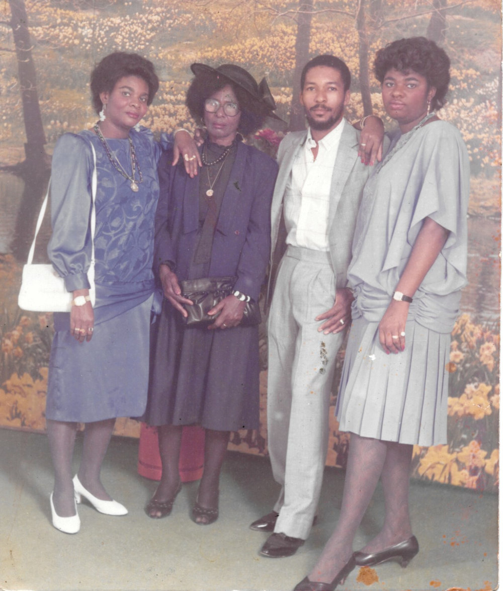Figure. From left to right: Aunt Melo, Grandma, Jean, and Aunt Fifi.