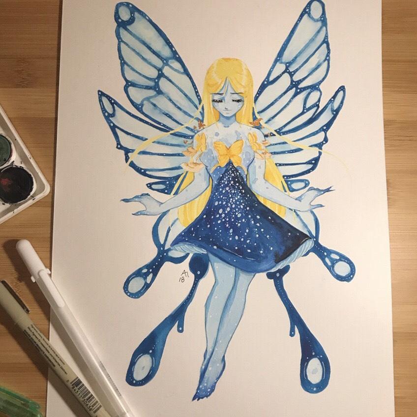 April Elizabeth has a creative imagination. (Painting by April Elizabeth)
