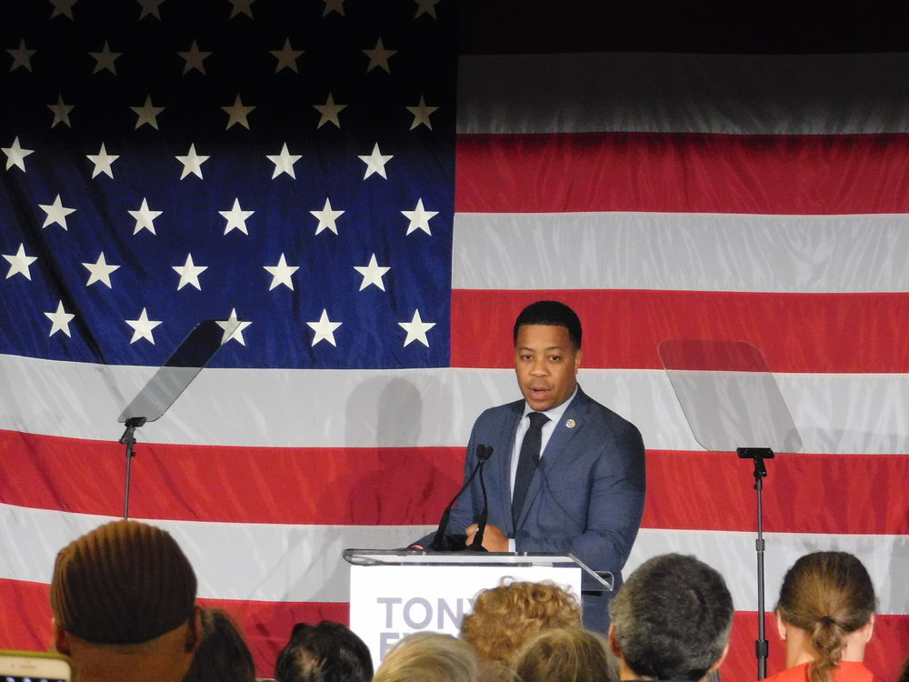 Mahlon Mitchell said it's time to get Scott Walker out of office. (Picture by Nyesha Stone)