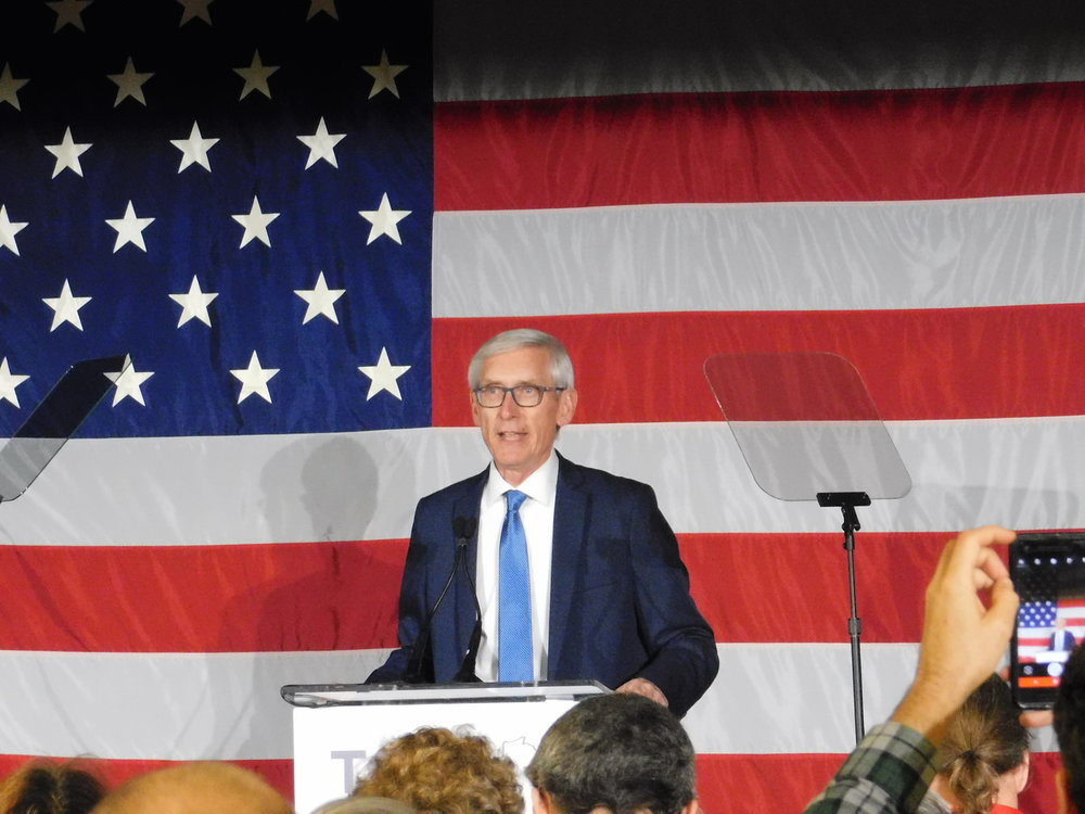 Tony Evers said he will fix Wisconsin's streets. (Picture by Nyesha Stone)