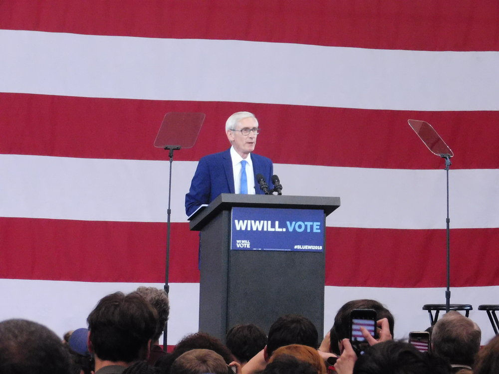 Tony Evers said he will replace Governor Scott Walker come Nov. 6. (Picture by Nyesha Stone)